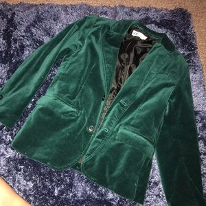 H&M Emerald velvet Little boys blazer